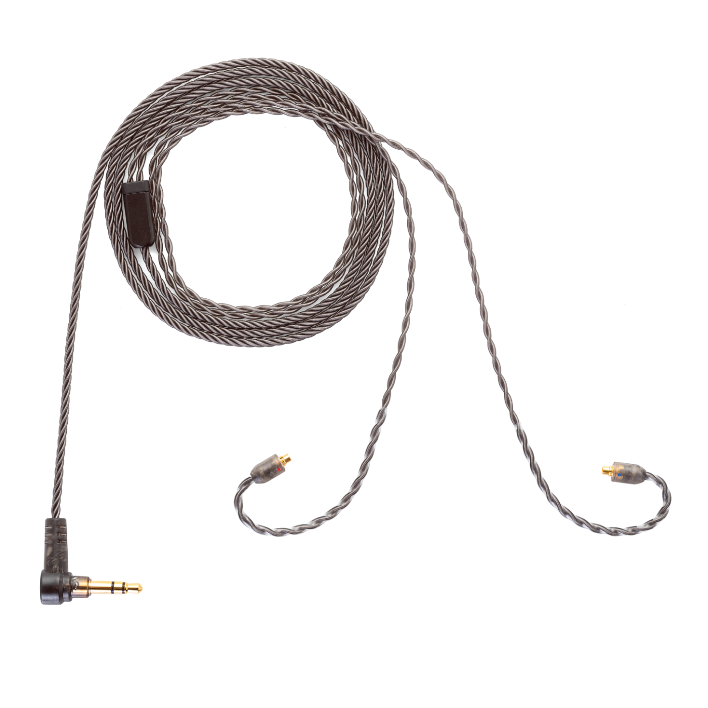 Smoky Litz Earphone Cable - 3.5mm Stereo Plug to MMCX Connector