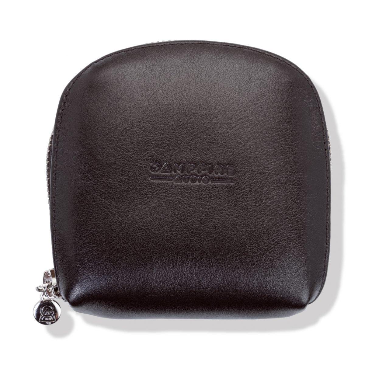 large black leather iem case