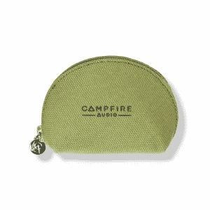 campfire audio honeydew dark green canvas iem case